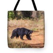 Sloth Bear Melursus Ursinus Tote Bag