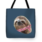 Sloth Black Glasses Red Scarf Sloths In Clothes Tote Bag