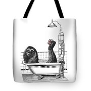 Sloth In Bathtub Taking A Shower Tote Bag