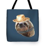 Sloth Monacle Straw Sloths In Clothes Tote Bag
