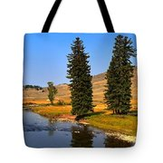 Slough Creek Afternoon Panrama Tote Bag