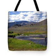 Slough Creek Angler Tote Bag by Marty Koch