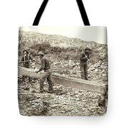 Sluice Box Placer Gold Mining C. 1889 Tote Bag