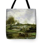 Sluice In The Optevoz Valley Tote Bag