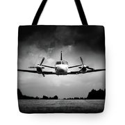 Small Airplane Low Flyby Tote Bag