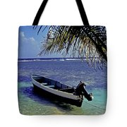 Small Boat Belize Tote Bag