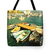 Small Boat Dock Catalina Island California Tote Bag