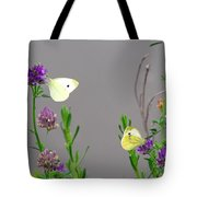 Small Butterflies Sipping Flower Nectar Tote Bag