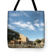 Small Chapel In The Hills Of The Balagne Region Of Corsica Tote Bag