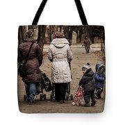 Small Child Looking Backward Tote Bag