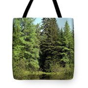 Small Country Pond Tote Bag