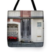 Small Door And Flower Box  Amsterdam Tote Bag
