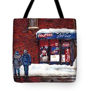 Small Format Paintings For Sale Poutine Lafleur Montreal Petits Formats A Vendre Cspandau Artist  Tote Bag