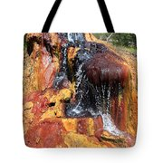 Small Geyser In Yellowstone Tote Bag