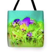 Small Group Of Violets Tote Bag