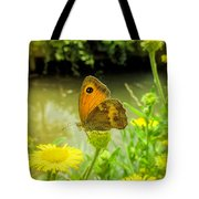 Small Heath Butterfly Tote Bag