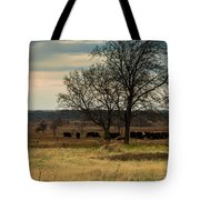 Small Herd In Winter Tote Bag