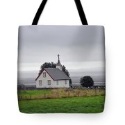 Small Icelandic Church With Gray Roof Tote Bag