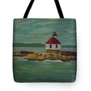Small Island Lighthouse Tote Bag