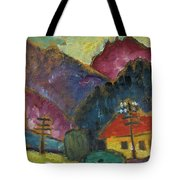 Small Landscape With Telegraph Tote Bag