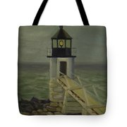 Small Lighthouse Tote Bag