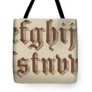 Small Old English Riband  Tote Bag