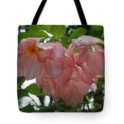 Small Orange Flower Pink Heart Leaves Tote Bag