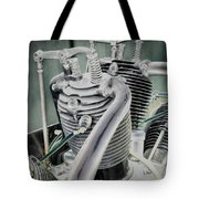Small Radial Engine Tote Bag by Dennis Dame