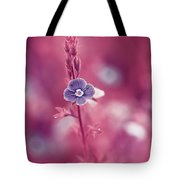 Small Romantic Violet Flower Tote Bag