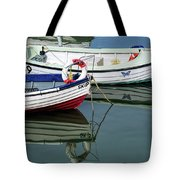 Small Skiffs - Lyme Regis Harbour Tote Bag