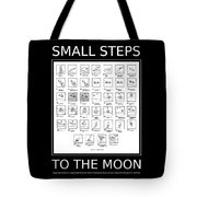Small Steps To The Moon Tote Bag by Richard Reeve