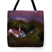 Small Town Church Tote Bag