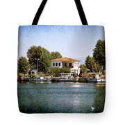 Small Town In Greece Tote Bag