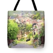 Small Town Scape Tote Bag