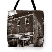Small Town Shops - Sepia Tote Bag