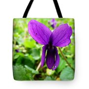 Small Violet Flower Tote Bag