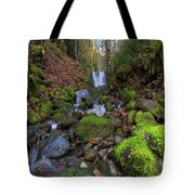 Small Waterfall At Lower Lewis River Falls Tote Bag