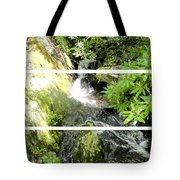 Small Waterfall Smoky Mountains Triptych Tote Bag
