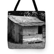 Small White Barn B W Tote Bag