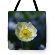Small White Poppy Tote Bag