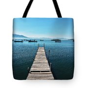 Small Wood Pier Tote Bag