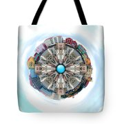 Small World In The Clouds Tote Bag