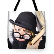 Smart Woman Researching Info Tote Bag
