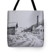 Smelter Ruins Glendale Ghost Town Montana Tote Bag