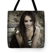 Smiling Beauty Tote Bag