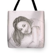 Smiling Girl Tote Bag