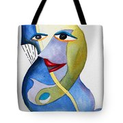Smiling Girl Tote Bag
