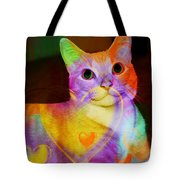 Smiling Kitty Tote Bag