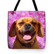 Smiling Pug Tote Bag