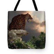 Smilodon Californicus Lookout Tote Bag
